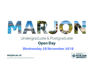 Plymouth Marjon University Open Day - 28 November 2018