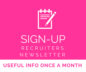 Recruiters Newsletter sign-up